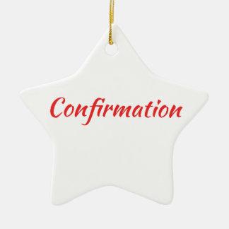 Confirmation Dove, Bible, Cross Ceramic Ornament
