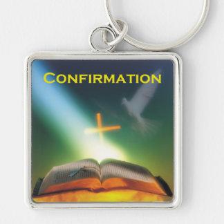 Confirmation Dove, Bible, Cross Keychain