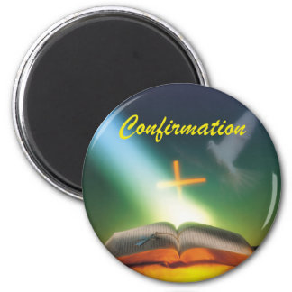 Confirmation Dove, Bible, Cross Magnet