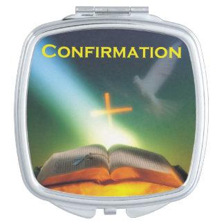 Confirmation Dove, Bible, Cross Makeup Mirror