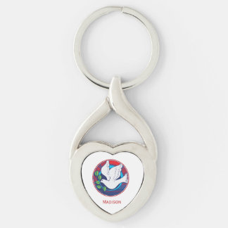 Confirmation, Dove Colorful, Gift Keychain