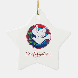 Confirmation, Dove Colorful, Star Ornament