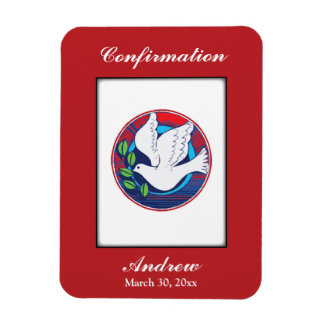 Confirmation, Dove Colorful, Vertical Gift Items Magnet
