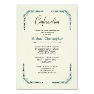 Confirmation European Corners 5x7 Paper Invitation Card