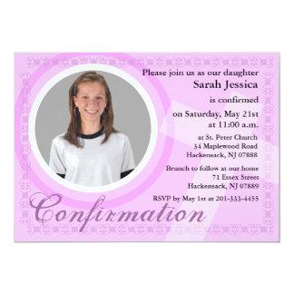 Confirmation Girl Invitation Pink