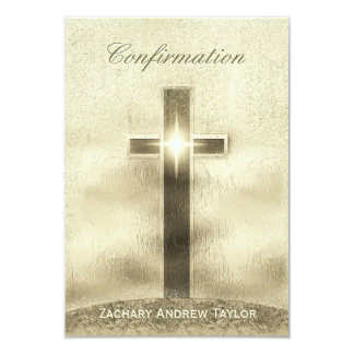 Confirmation Gold Cross on Hill Card
