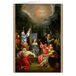 Confirmation Holy Spirit Virgin Mary Apostles Card