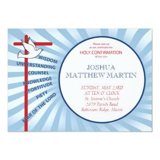 Confirmation Invitation Blue Rays