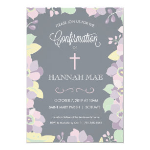 confirmation invitations zazzle