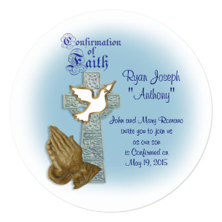 Confirmation invitation Celtic cross