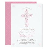 Confirmation invitations announcements zazzle confirmation invitation girls custom invite stopboris Gallery