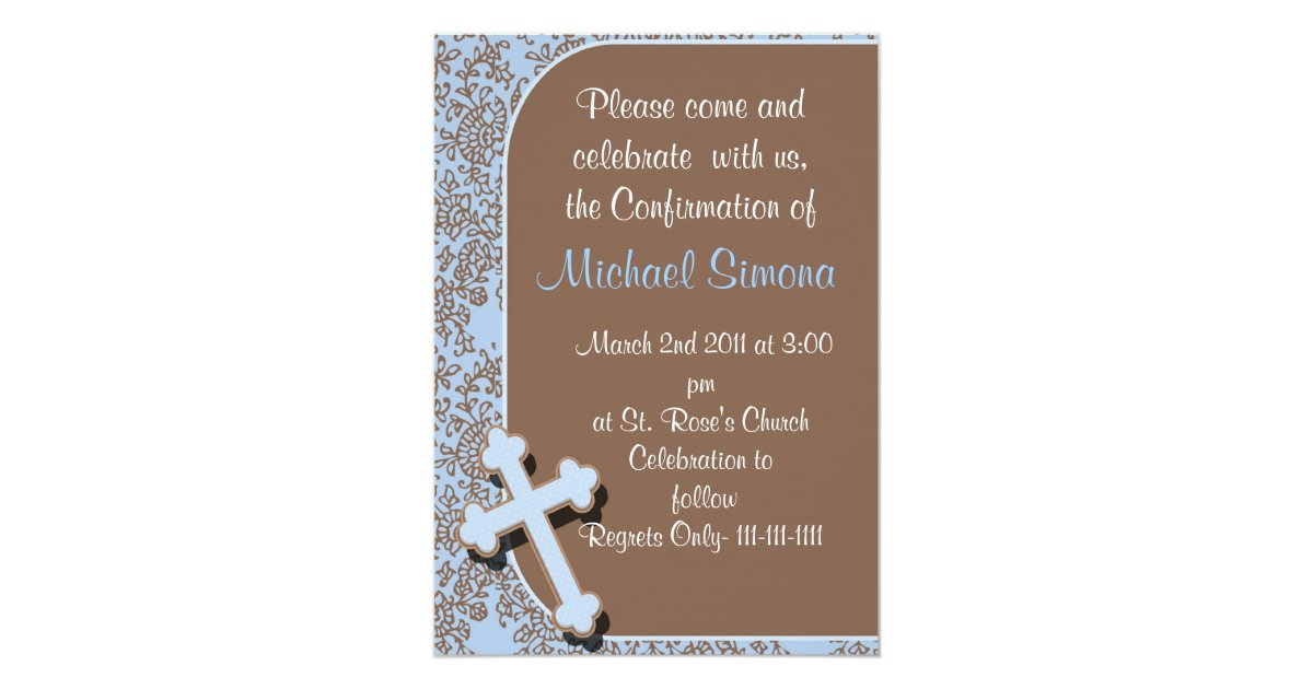Confirmation Invitations For Boys Zazzle Com