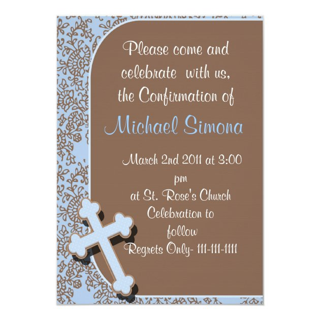 confirmation invitations for boys