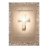 Confirmation Pale Rose Cross Card