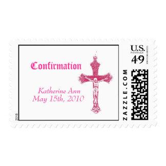 Confirmation postage stamp