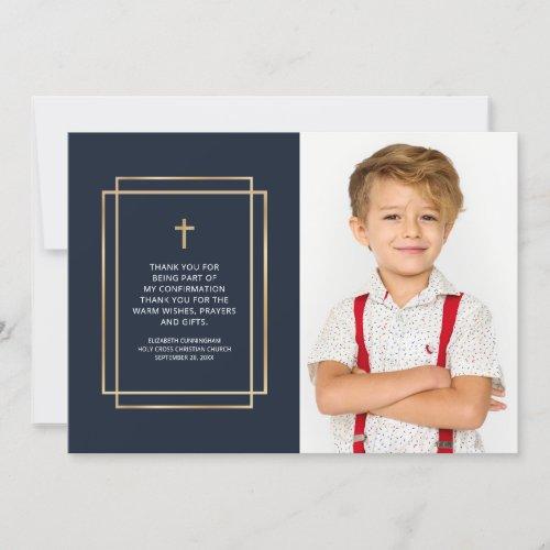 Confirmation   Simple Custom Photo Thank You Card