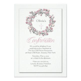 Confirmation Wreath Religious Invitation