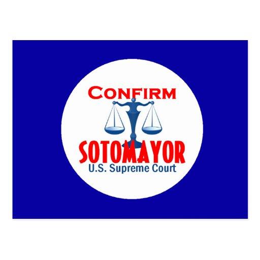 Confirme la postal de Sotomayor