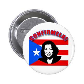 CONFIRMELA Con Bandera de Puerto Rico 2 Inch Round Button