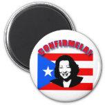 CONFIRMELA Con Bandera de Puerto Rico Magnets