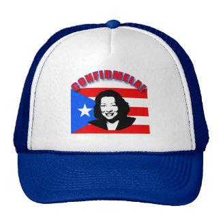CONFIRMELA Con Bandera de Puerto Rico Trucker Hat
