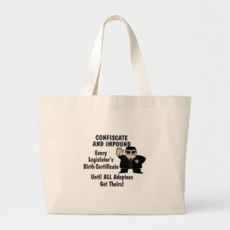 Confiscate Large Tote Bag