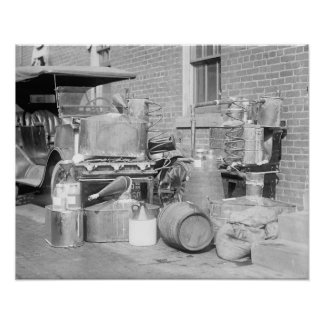 Confiscated Moonshine Still, 1922 Poster