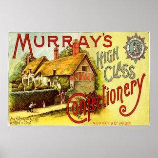 Confitería de clase superior de Murrays - cabaña Póster