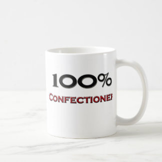 Confitero del 100 por ciento taza básica blanca
