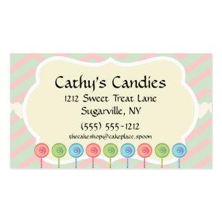 Confitero verde rosado del panadero de la tienda tarjetas de visita