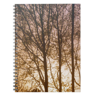 Conflagration in Wood Notebook