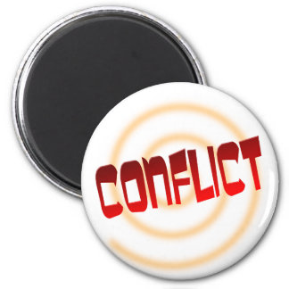 conflict 2 inch round magnet