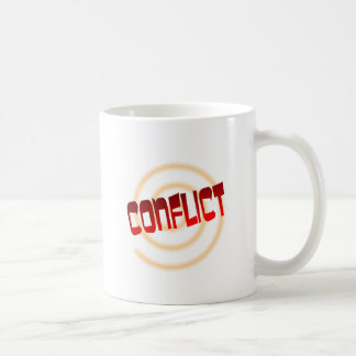 conflict classic white coffee mug