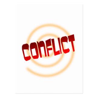 conflict postcard