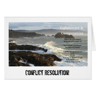 Conflict Resolution Key Points Card