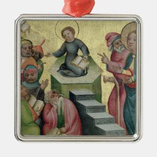 Conflicto con los doctores, 1400/10 adorno navideño cuadrado de metal