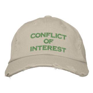 conflicto de intereses gorro bordado