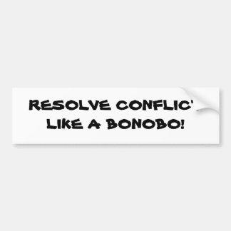 ¡CONFLICTO DE LA RESOLUCIÓN COMO UN BONOBO! PEGATINA DE PARACHOQUE