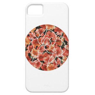 Conflicto del La - caja floral del teléfono iPhone 5 Fundas