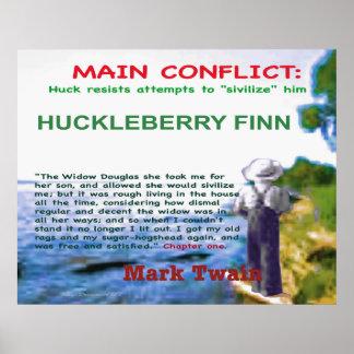 Conflicto principal de Huckleberry Finn Póster