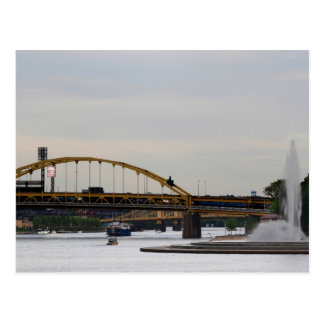 Confluence Allegheny Monongahela Ohio Rivers Postc Postcard