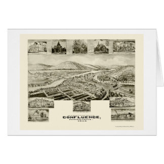 Confluence, PA Panoramic Map - 1905 Card