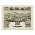 Confluence, PA Panoramic Map - 1905 Print
