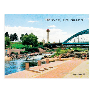 Confluence Park, Cherry Creek-South Platte, Denver Postcard