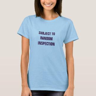 Conforme a la inspección al azar playera