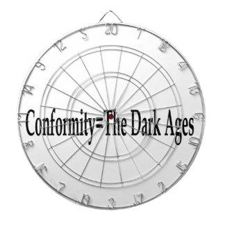 Conformidad = las edades oscuras tabla dardos