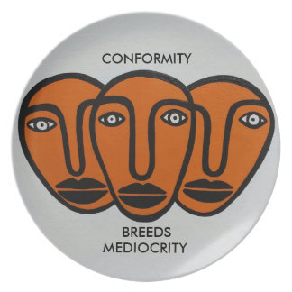 Conformity 2 melamine plate