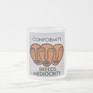 Conformity 2 10 oz frosted glass coffee mug