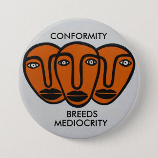 Conformity 2 pinback button