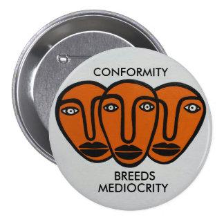 Conformity 2 pinback button